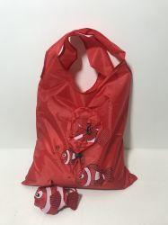 Forme de poisson de pliage en nylon polyester recyclé Fashion femmes DON T-shirt d'épicerie réutilisables Sac de Shopping