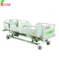 3 أسرة مستشفى كهربائية وظيفة/سرير طبي/سرير فاولر/سرير ICU/سرير مريض مع القضبان الجانبية PP