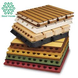 MDFの防音の装飾的な壁の吸音力の溝がある木の天井および競技場の音響の木製のパネル
