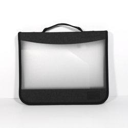 Artigos de Papelaria portátil uma4 à prova de plástico Classificadores com Serviço Pesado reunião de negócios no exterior de viagem o projecto de contrato suporte de papel de protecção de pasta Saco de Arquivo