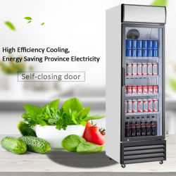 スーパードリンクボトルドリンクディスプレイユーリグトガラスドアクーラーショールーム 冷蔵庫