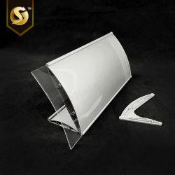 Détenteur du nom de Bureau Cuved en aluminium avec contenu Interchangeble Style papier
