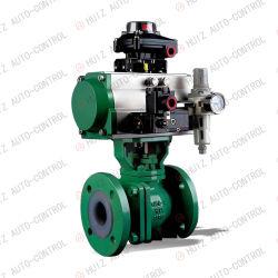 Válvula de bola reguladora neumática de puerto en V/válvula de bola tipo V/Control de bola Válvula/válvula de bola neumática/válvula de bola V/válvula de bola de actuador neumático