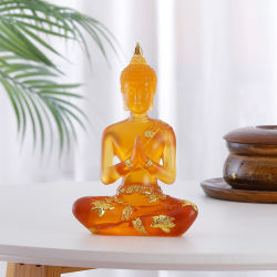 Statue de Bouddha personnalisé Jardin méditant Bouddha en résine Figure