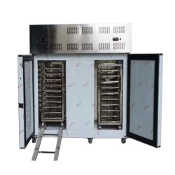 빨리 즉시 저속한 충격 돌풍 IQF 언 급속 냉동 냉장실 냉각장치 기계는 단식한다
