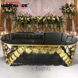 جديدة خاصّ حديث تصميم معدن قاعدة مرآة زجاجيّة علبيّة عرس طاولة