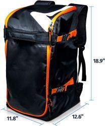 Saco de botas de esqui Backpack 50L - botas de esqui e snowboard, capacete Saco de viagem para voar de deslocamento de ar
