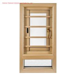 Noble y elegante Cristal Casement ventana de la rejilla de aluminio