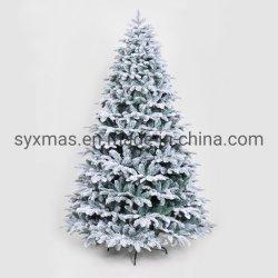 210 cm PE Verde e PVC com dobradiças mistos Árvore de Natal com neve Decoração presente de Natal
