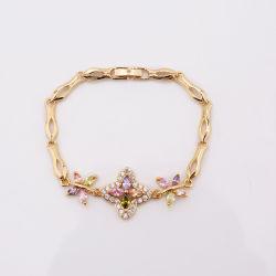 La mode Nouvelle Cheap Wholesale AAA colorés Pierres Cz plaqué or 18K Big Zircon autour de bracelet Bangles conçoit des bijoux
