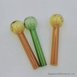4 Zoll Pyrex Öl-Glasrohr, diezusätzlichen Tabak-Rohr-Glasöl-Brenner rauchen