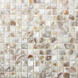 Óleo quadrado mosaico da Shell de flores, de volta para casa de banho, sala de jantar decoração de salpicos