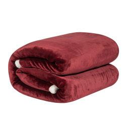 2인용 침대 장을%s 가정 직물 두 배 Sherpa Flannel 담요 겨울 담요