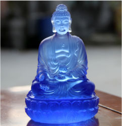 Цветные глазури статуи Большого Будды для дома и храм украшения