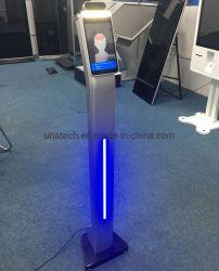 Dinâmica de Chão Leitor biométrico de Reconhecimento Facial Clássica Detector de Temperatura do leitor de tela exibir cartazes quiosque scanner infravermelho