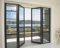 Fuera de Casement vidrio bisagras residencial puerta de aluminio exterior