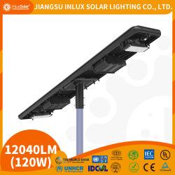 Controle sem fio de alta eficiência de 110 W em todos os 1 LED Solar Luz exterior, lâmpadas economizadoras de energia solar