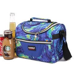 Impresión de la galaxia la bolsa de comestibles de la palanca del enfriador de hombro de viajes Bolsa de comida
