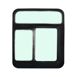 オートファクトリーに採用されている人気のタイプバスアルミニウムスライディングカーウィンドウ