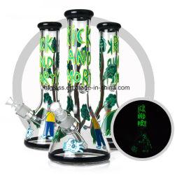 Рик и Morty искусства водопроводная труба горячие стеклянные Hookah курения трубки
