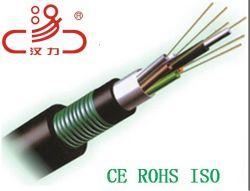 Открытый коммуникационный кабель оптоволоконный кабель 12, 24, 48 ядер - GYTA53
