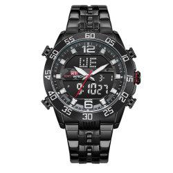 [نوسست] 2019 هبة [منس] ساعة مع [ستلس] فولاذية شريط كوارتز [ديجتل تيم] [كرونوغراف] جودة ساعات جمليّة