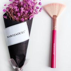 De gros de produits cosmétiques de haute qualité de l'Imitation de la laine Nylon Cheveux Visage Brosse de maquillage du ventilateur de nettoyage