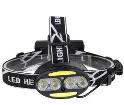 Faro recargables USB, ligero, súper brillante LED Proyectores para la ejecución de corredor, Tormenta Impermeable IP65, faros de led con sensor contacto