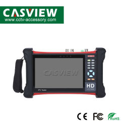 """7 """"タッチ画面4K 1080P IpcのカメラCCTVの網膜のテスターのモニタのWiFi Tvi Cvi Ahd SDI CVBS IPの発見のアナログは十分にCx7-Movtadhs作用する"""