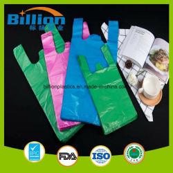 Personnalisé sac d'épicerie sac en plastique coloré panier Sac