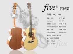 Cinco abeto de 40 pulgadas Sapele poco esquina vacantes Folk & Guitarra acústica