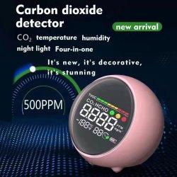 Concentración de CO2 de fábrica de humedad y temperatura Medidor de Detector de probador de dióxido de carbono fs002