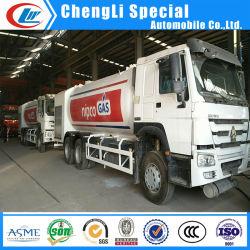 Sinotruk HOWO 6X4 24cbm 10Mt de llenado del cilindro de gas de llenado de coche carretilla carretilla carretilla Bobtail GPL para la venta