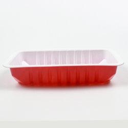 Kundenspezifischer zweifarbiger Weiß-Roter Plastikkasten des Farben-Drucken-Wegwerfnahrungsmittelbehälter--20-120temperature für Abendessen