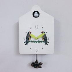 Caliente la venta de reloj de pared Pajarillo Cuco madera decorativa Inicio falso reloj de pared con el sonido de aves