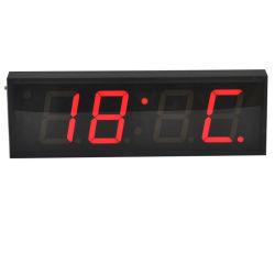 """4 """" 4温度の表示が付いているディジットLEDデジタル時計"""