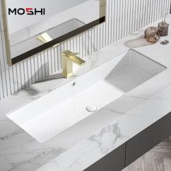 Ovale moderne salle de bains Articles sanitaires Undercounter lavabo en vertu de bassins de compteur de chute de la céramique