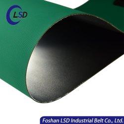 Haut Wear-Resistant Temperature-Resistance épaisseur 3mm cuir synthétique utilisé en PVC à plat la courroie du convoyeur
