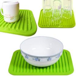 FDA 접지 닦은 기계 안전한 실리콘 접시 건조용 매트 실리콘 수채 매트