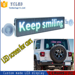 شاشة LED للسيارة تمرير WiFi التحكم في Bluetooth السقف المتحرك إشارة شاشة LED خلفية مزدوجة الجانب مع تاكسي P5