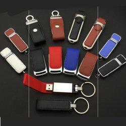 Logo personnalisé en cuir, le cuir de 16 Go USB Stick USB, lecteur flash USB en cuir 1 To
