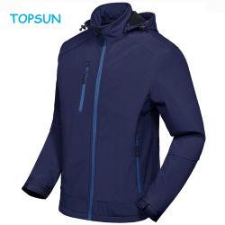Heren' S Softshell Jacket met afneembare kap, met fleece bekleed en waterafstotend