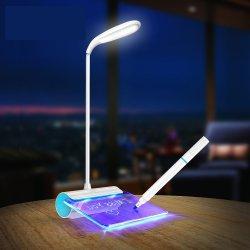 Creative a conduit la nuit de la lumière avec Message Board élève les enfants de la lecture de lampe de bureau sur la touche de rechargeables USB Lampes de table à intensité réglable