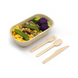 Conteneur de l'emballage des aliments à usage unique Boîte de papier/emballage biodégradable/stockage/emballage/boîte à lunch la canne à sucre Bagase 850ml 1000ml