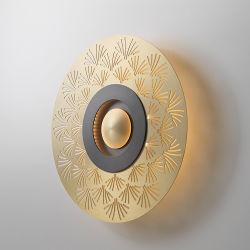 El arte moderno de baja el precio de la placa de metal decorativos de hierro fundido Lampara de pared antiguos para Decoracion