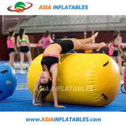 Rollo de aire inflables de alta calidad del aire de gimnasia de barril la vía para la venta