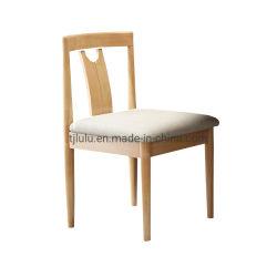 Nordic Hot Sale Komfortable Log Farbe Esszimmer Log Farbe Gepolsterter Stuhl Aus Gummi Holz Wohnzimmer