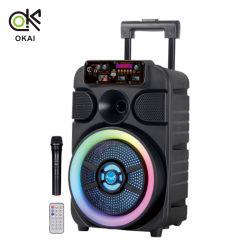 7.4V 3000mAh 파워 트롤리 Bluetooth 무선 휴대용 8인치 오디오 스피커