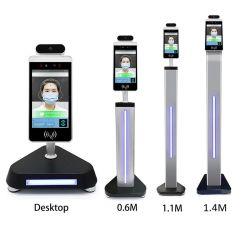 Factory Direct bornier numérique de la reconnaissance de visage thermomètre LCD 8 pouces de la température du corps du système de détection de présence sans contact