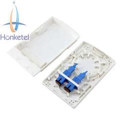 Mini-boîte à bornes fibre optique FTTH pour prise murale intérieure à 1/2/4 conducteurs Boîte de distribution de câbles boîte de répartition à fibre optique